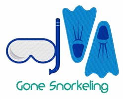 Gone Snorkeling embroidery design