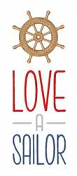 Love A Sailor embroidery design