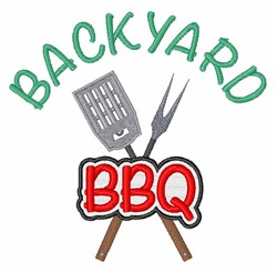 Backyard BBQ embroidery design
