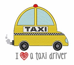 Taxi Driver embroidery design
