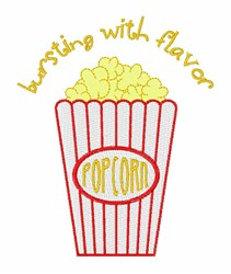 Flavored Popcorn embroidery design