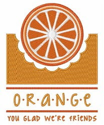 Orange Friend embroidery design