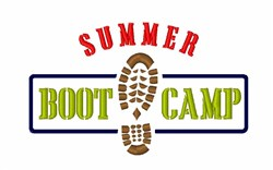 Summer Boot Camp embroidery design