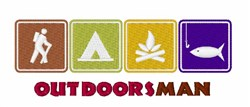 Out Doors Man embroidery design
