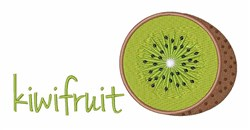 Cut Kiwi Fruit embroidery design
