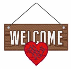 Welcome Board embroidery design