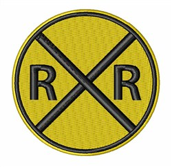 Railroad Crossing embroidery design