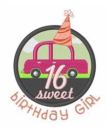 Teen Birthday Girl embroidery design