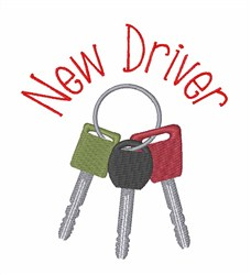 New Driver embroidery design