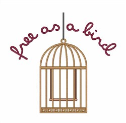 Free As A Bird embroidery design