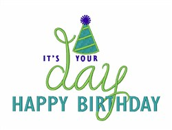 Its Your Birthday embroidery design