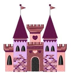 Princess Castle embroidery design