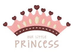 Our Princess embroidery design
