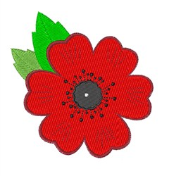 Remembrance Day Poppy embroidery design