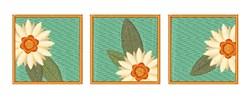 Floral Blocks embroidery design