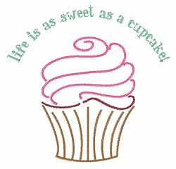 Sweet As Cupcake embroidery design