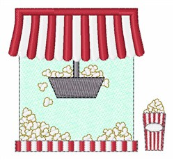 Popcorn Machine embroidery design