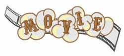 Movie Popcorn embroidery design