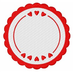 Love Circle embroidery design
