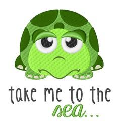 Green Sea Turtle embroidery design