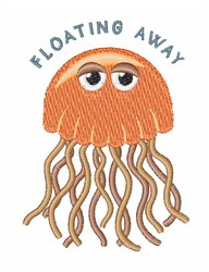 Floating Away Jelly FIsh embroidery design