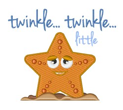 Twinkle..Twinkle...Starfish embroidery design