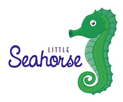 Little Seahorse embroidery design