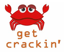 Get Crackin'''' Crab embroidery design
