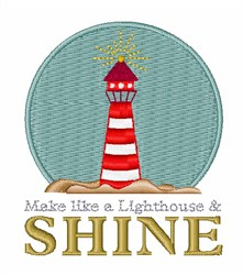 Shine On Lighthouse embroidery design