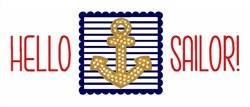 Hello Sailor! embroidery design