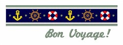 Bon Voyage Border embroidery design