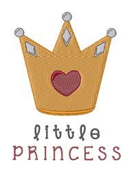 Little Princess Crown embroidery design