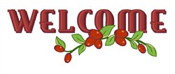 Welcome Cranberries embroidery design