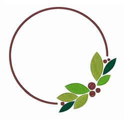 Cranberry Circle embroidery design