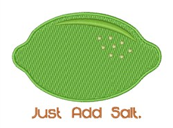 Just Add Salt embroidery design