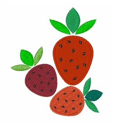 Strawberries Berry Awesome embroidery design