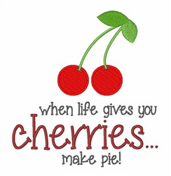 Sweet As Cherry Pie embroidery design