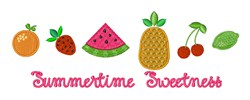 Tropical Fruit Border embroidery design