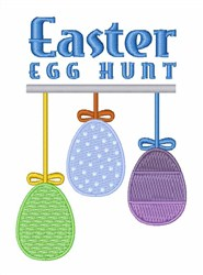 Easter Egg Hunt embroidery design