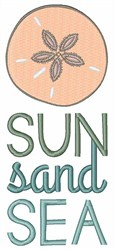 Sun Sand Sea embroidery design