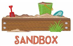 Sandbox embroidery design