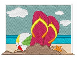 Beach Shoes embroidery design