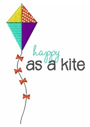 Happy As Kite embroidery design