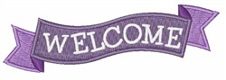 Welcome Banner embroidery design