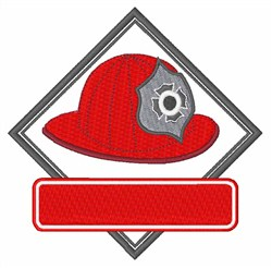 Fireman Helmet embroidery design