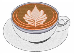Cafe Latte embroidery design