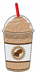 Iced Coffee embroidery design