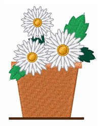 Daisy Pot embroidery design