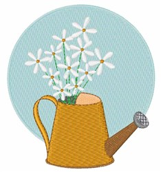 Water Can Flowers embroidery design