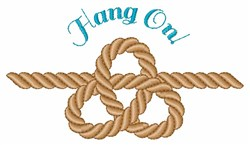Hang On embroidery design